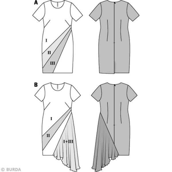 Patron Burda - Femme - Robe graphique grande taille - 6784 - Photo n°3