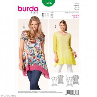 Patron Burda - Femme - Tunique à pans grande taille - 6786