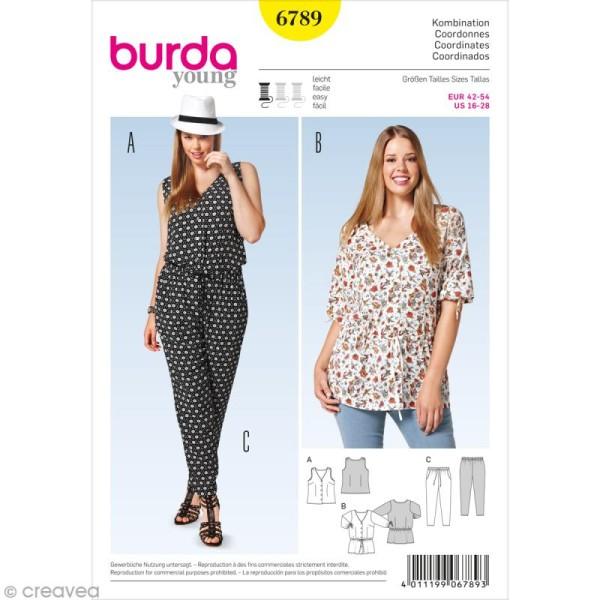 Patron Burda , Femme , Ensemble d\u0027été grande taille , 6789 , Photo n