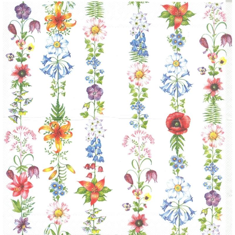 chemin de table en papier guirlande de fleurs format 33 cm x 6 m chemin de table creavea. Black Bedroom Furniture Sets. Home Design Ideas