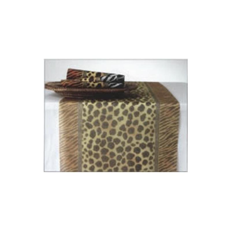 chemin de table en papier empreinte animal afrique format 33 cm x 6 m chemin de table creavea. Black Bedroom Furniture Sets. Home Design Ideas