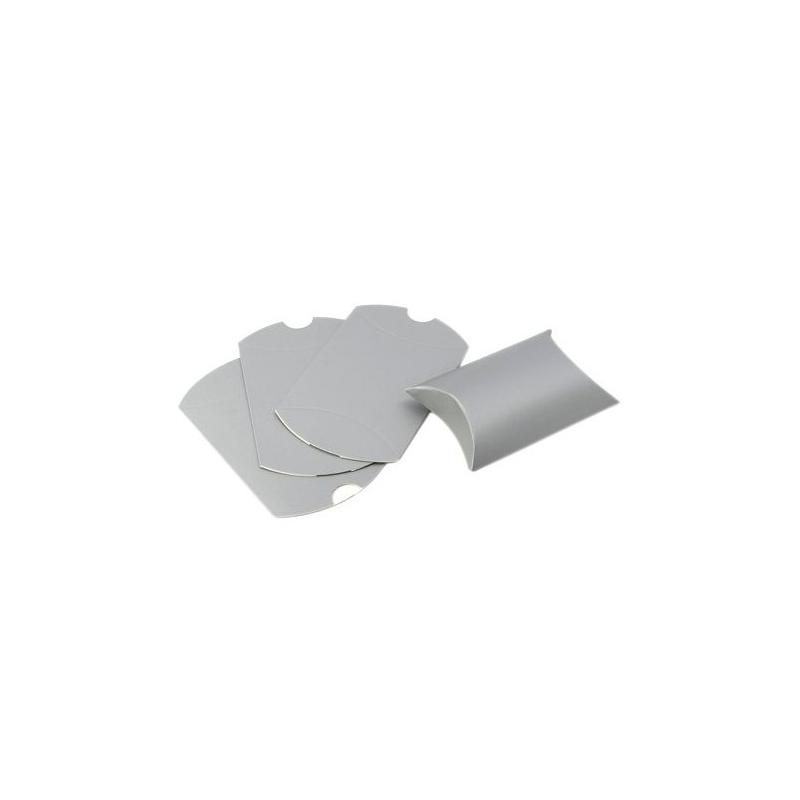 ps110113306 pax 20 emballage carton emballage cadeau berlingots 9x7cm couleur argent mat. Black Bedroom Furniture Sets. Home Design Ideas