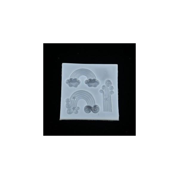 S110116812 PAX 1 Moule en Silicone Pendentif Arc en Ciel pour Creation Fimo Resine - Photo n°1