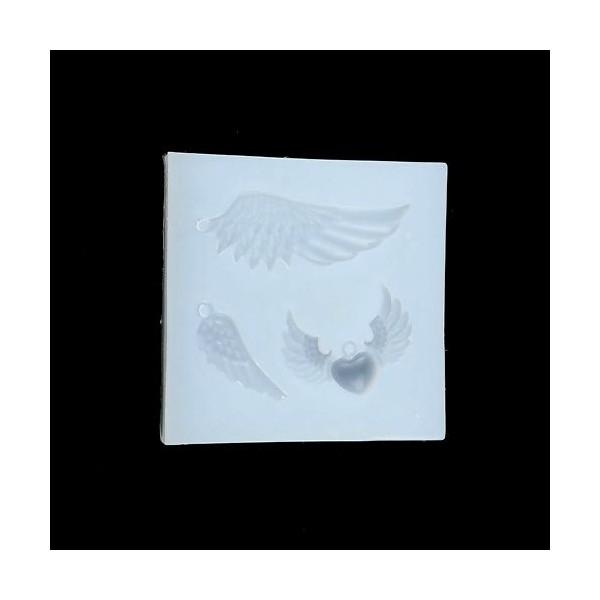 S110116784 PAX 1 Moule en Silicone Pendentif Aile d'Ange pour Creation Fimo Resine - Photo n°2