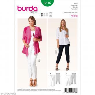 Patron Burda - Femme - Pantalon à pinces grande taille - 6816