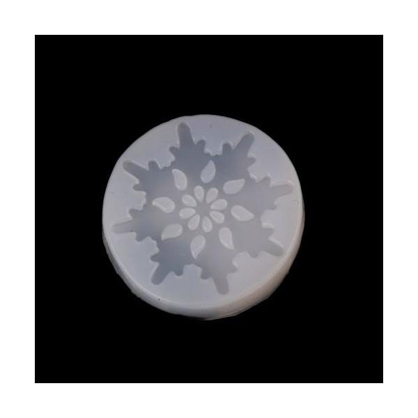 PS110113155 PAX 1 Moule en Silicone Pendentif Flocon de Neige Noel pour Creation Fimo Resine - Photo n°1
