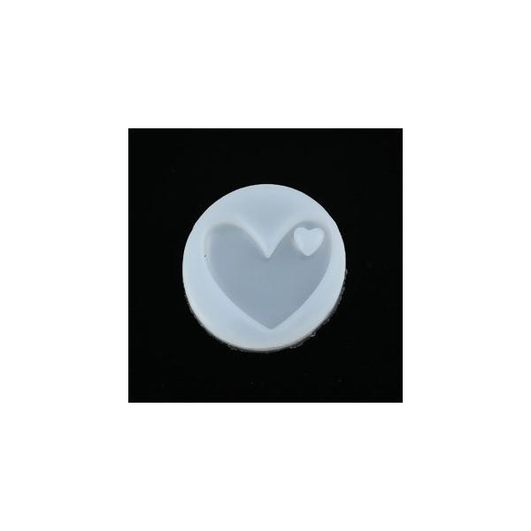 PS110116796 PAX 1 Moule en Silicone Pendentif Coeur pour Creation Fimo Resine - Photo n°1