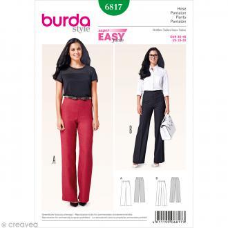 Patron Burda - Femme - Pantalon taille haute - 6817