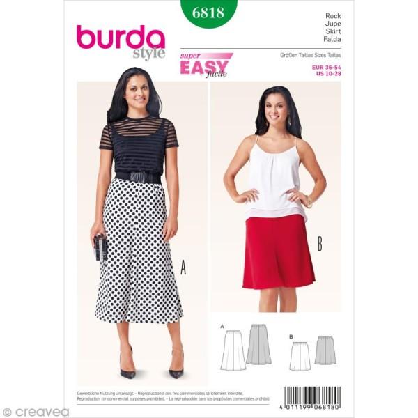 Patron Burda - Femme - Jupe cloche - 6818 - Photo n°1