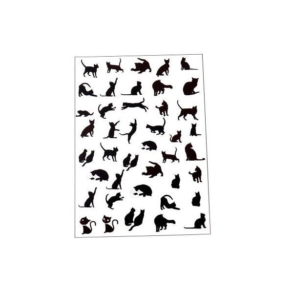 PS110109177 PAX de 1 Planche imprimées Chat Noir pour bijoux résine - Photo n°1