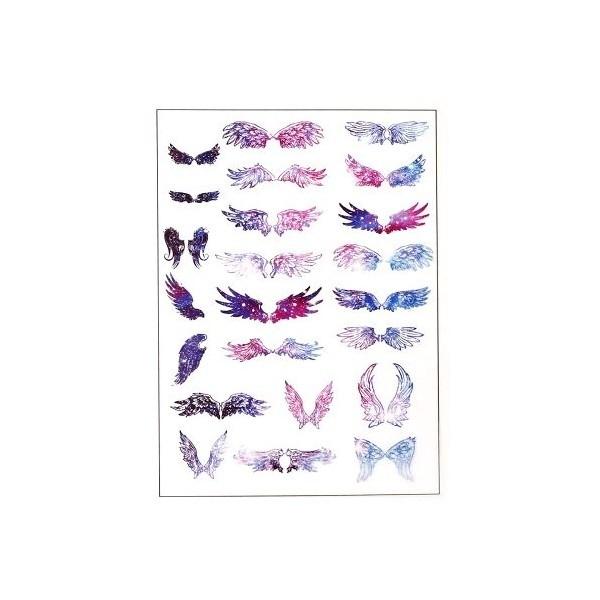 PS110109178 PAX de 1 Planche imprimées Ailes Colorés pour bijoux résine - Photo n°1