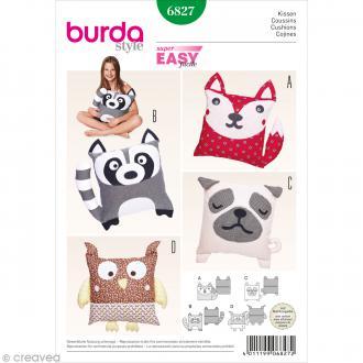 Patron Burda - Décoration - Coussins animaux - 6827