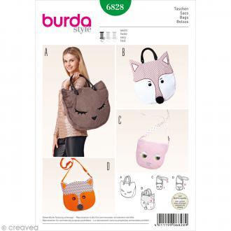 Patron Burda - Accessoire - Sacs têtes d'animaux - 6828