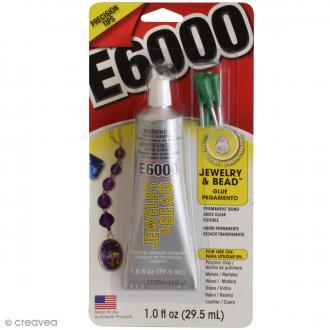 Colle bijoux E6000 avec 4 embouts - 29,5 ml