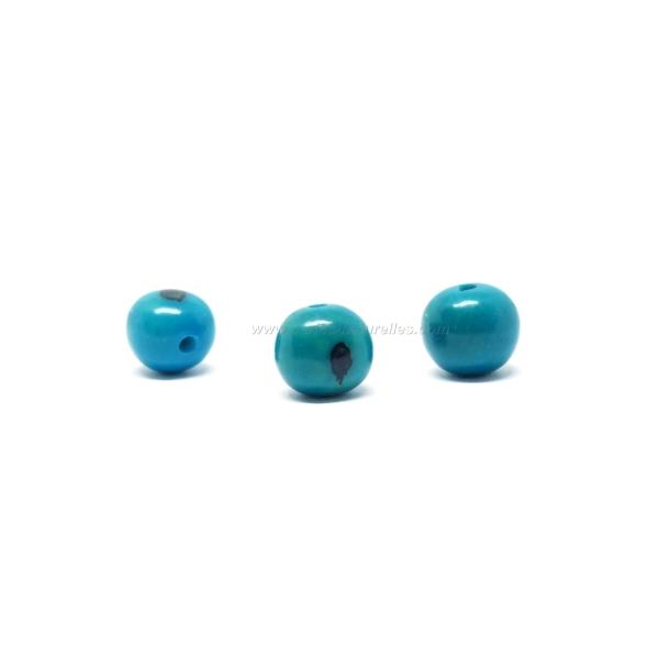 10 Perles Açai - Bleu - Photo n°1