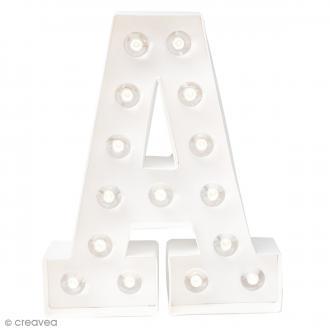 Lettre lumineuse à Led A - 20.3 x 16.2 x 5.1 cm