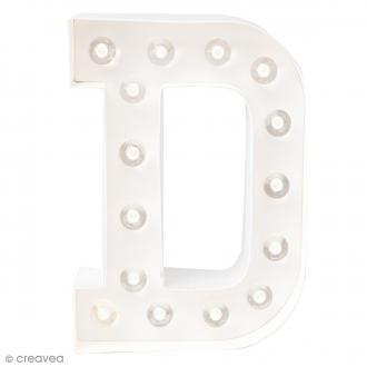 Lettre lumineuse à Led D - 20.3 x 15.2 x 5.1 cm
