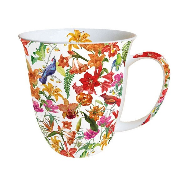 Mug, tasse, porcelaine AMBIENTE 10.5 cm 0.4 l PARADISE BIRDS - Photo n°1