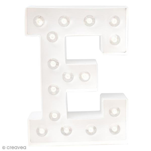 Lettre lumineuse à Led E - 20.3 x 15.2 x 5.1 cm - Photo n°1