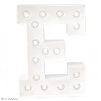 Lettre lumineuse à Led E - 20.3 x 15.2 x 5.1 cm
