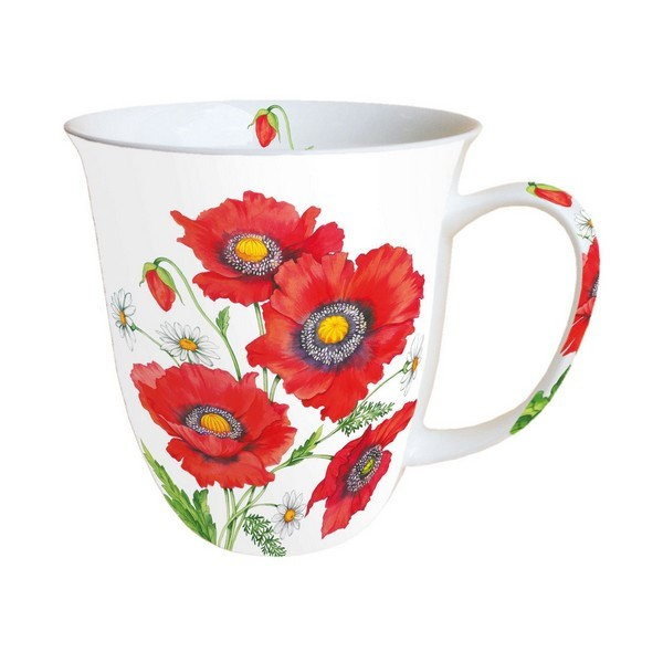 Mug, tasse, porcelaine AMBIENTE 10.5 cm 0.4 l POPPY SCENE - Photo n°1