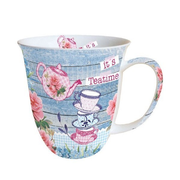 Mug, tasse, porcelaine AMBIENTE 10.5 cm 0.4 l IT'S TEA TIME - Photo n°1