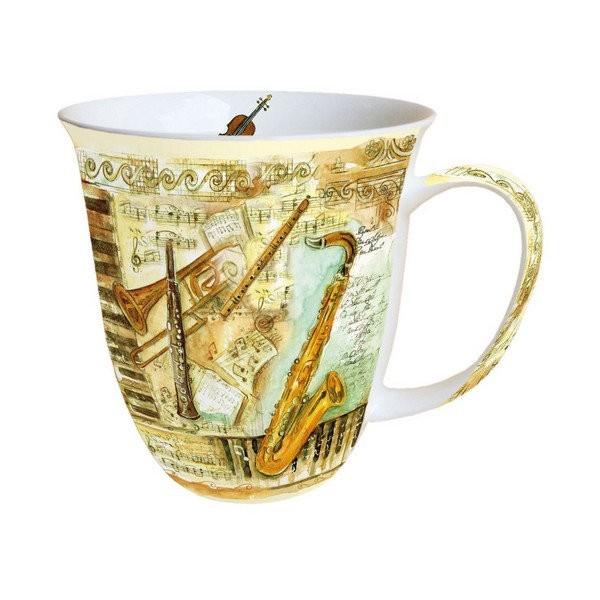 Mug, tasse, porcelaine AMBIENTE 10.5 cm 0.4 l INSTRUMENTS DE MUSIQUE - Photo n°1