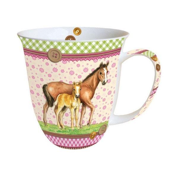 Mug, tasse, porcelaine AMBIENTE 10.5 cm 0.4 l PONEY - Photo n°1