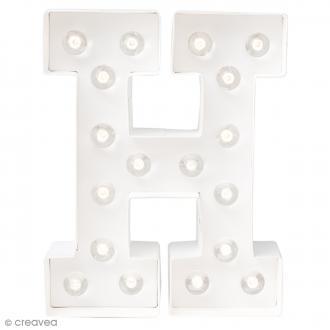 Lettre lumineuse à Led H - 20.3 x 16.2 x 5.1 cm