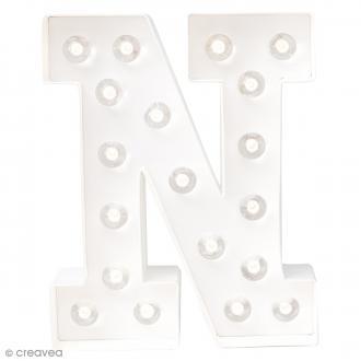 Lettre lumineuse à Led N - 20.3 x 16.2 x 5.1 cm