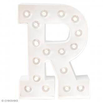 Lettre lumineuse à Led R - 20.3 x 15.2 x 5.1 cm