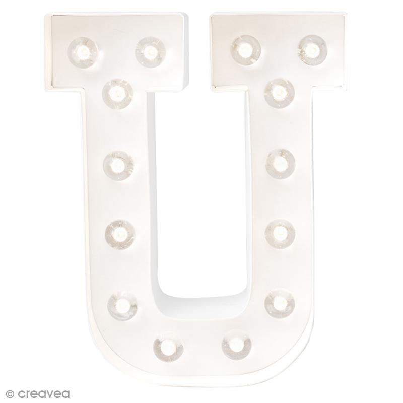 lettre lumineuse led u 20 3 x 15 2 x 5. Black Bedroom Furniture Sets. Home Design Ideas
