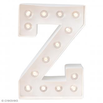 Lettre lumineuse à Led Z - 20.3 x 14 x 5.1 cm