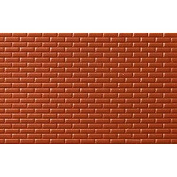 mur de brique rouge echelle 1 50 d cors miniature. Black Bedroom Furniture Sets. Home Design Ideas