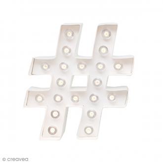 Forme lumineuse à Led Hashtag - 20,5 x 18 x 5 cm