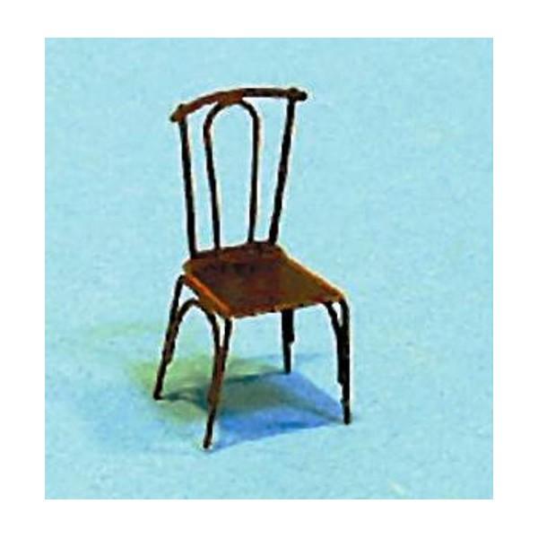 chaises de caf ou restaurant 4 pi ces echelle ho d cors miniature creavea. Black Bedroom Furniture Sets. Home Design Ideas