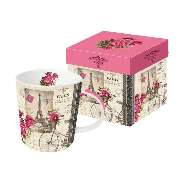 Mug, tasse avec anse en porcelaine 9.5 cm 350 ml VELO PARISIEN - Photo n°1