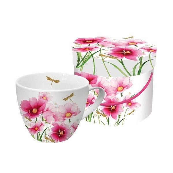 Tasse avec anse en porcelaine PPD 10.3 cm 450 Ml FLOWERS AND DRAGONGLY - Photo n°1