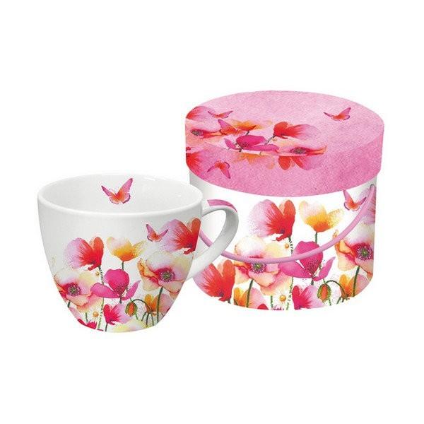 Tasse avec anse en porcelaine PPD 10.3 cm 450 Ml AQUARELL POPPIES AND DAISIES - Photo n°1