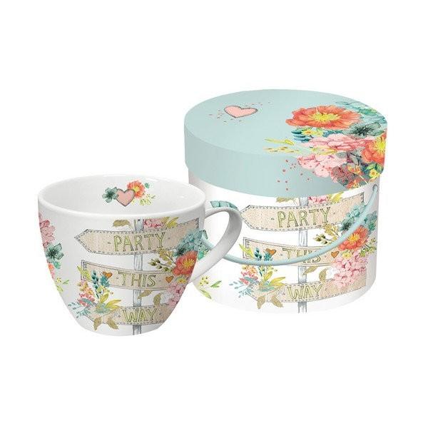 Tasse avec anse en porcelaine PPD 10.3 cm 450 Ml PARTY THIS WAY - Photo n°1