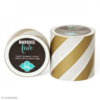 Masking tape large Marquee Love - Rayures dorées - 5,08 cm x 2,74 m