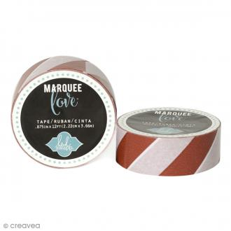 Masking tape Marquee Love - Rayures rouges - 2,22 cm x 3,66 m