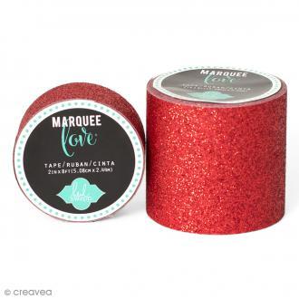 Masking tape large pailleté Marquee Love - Rouge - 5,08 cm x 2,44 m