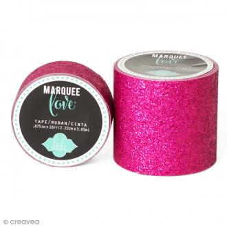 Masking tape large pailleté Marquee Love - Rose - 5,08 cm x 2,44 m