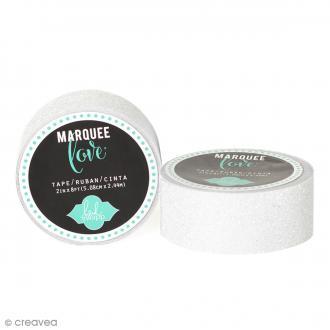 Masking tape pailleté Marquee Love - Blanc - 2,22 cm x 3,05 m
