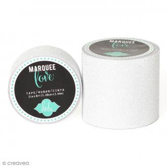 Masking tape large pailleté Marquee Love - Blanc - 5,08 cm x 2,44 m