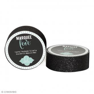 Masking tape pailleté Marquee Love - Noir - 2,22 cm x 3,05 m
