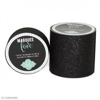 Masking tape large pailleté Marquee Love - Noir - 5,08 cm x 2,44 m