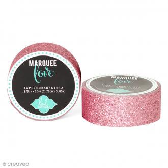 Masking tape pailleté Marquee Love - Rose clair - 2,22 cm x 3,05 m