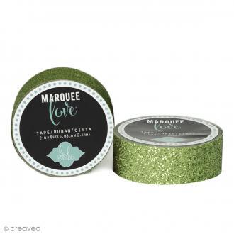 Masking tape pailleté Marquee Love - Vert pomme - 2,22 cm x 3,05 m